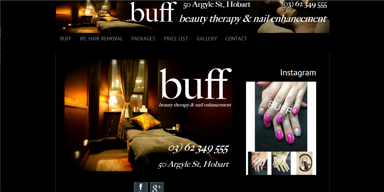 BuffNails.com.au Beauty Salon Website by Tim Heath Solutions