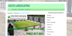 HeathLandscaping.com.au Website by Tim Heath Solutions Web Design