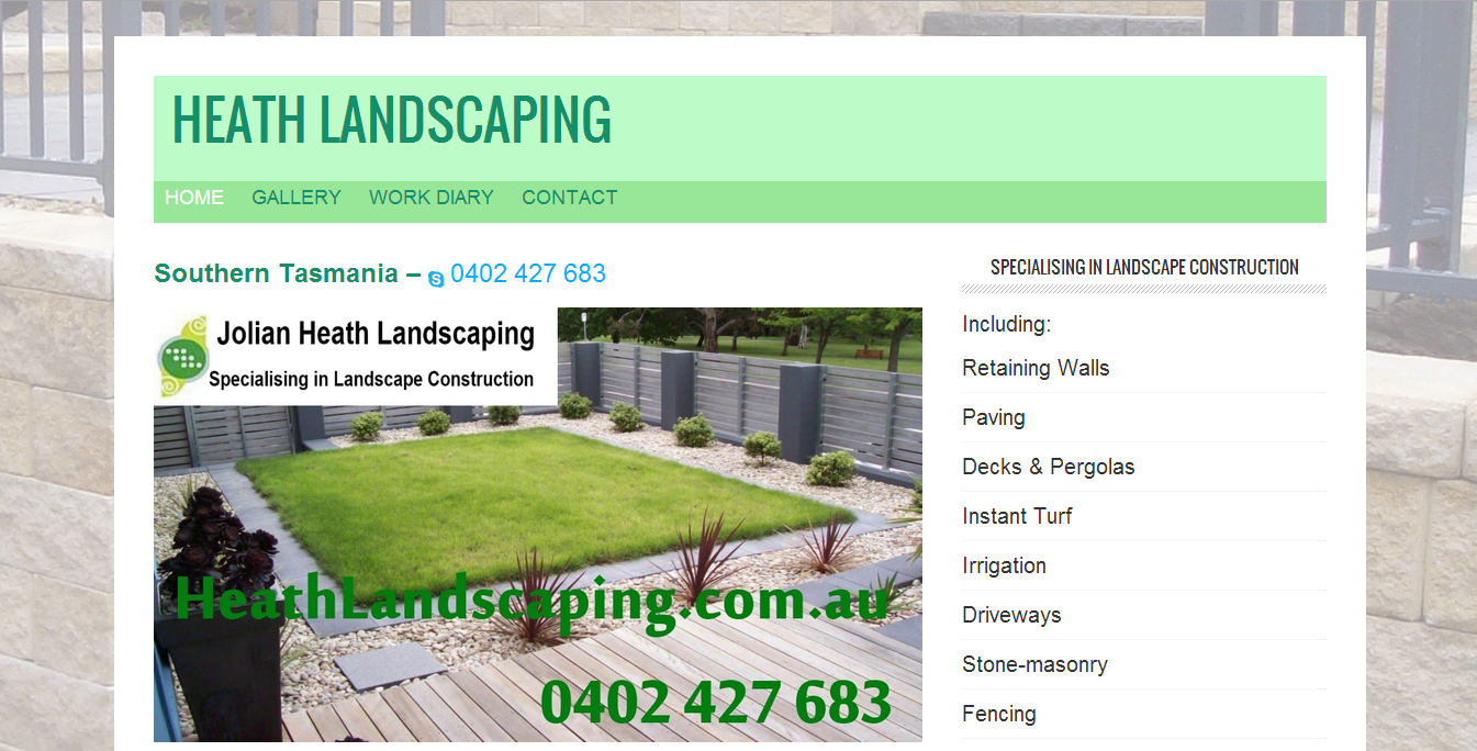 HeathLandscaping.com.au  Website by Tim Heath Solutions