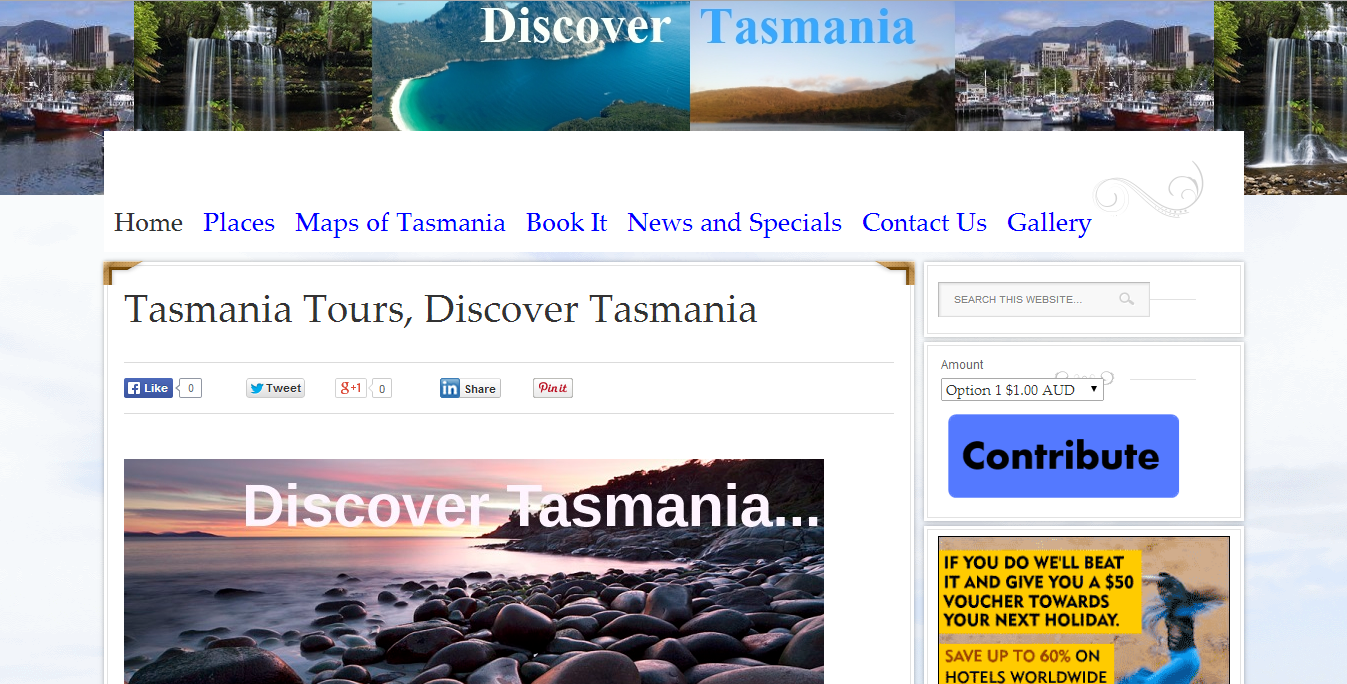 TasTours.com.au Website by Tim Heath Solutions