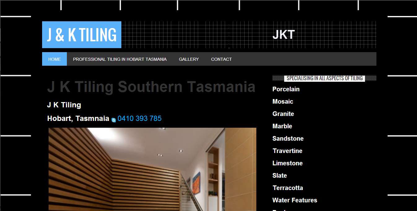 JKTiling.net Website by Tim Heath Solutions